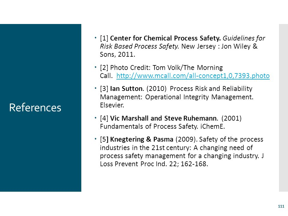 [1] Center for Chemical Process Safety